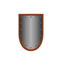 Sign shield silver 1105 vector image vector image