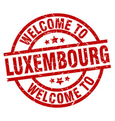 welcome to luxembourg red stamp vector image