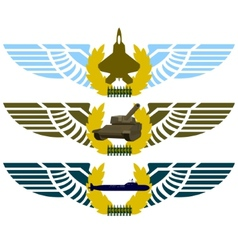 Army badges-4 vector image