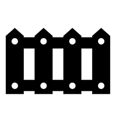 Fence icon simple style vector