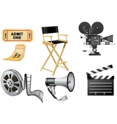 film industry elements vector image vector image