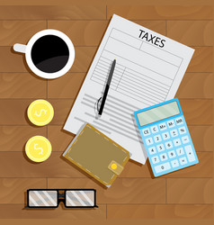 tax pay vector image