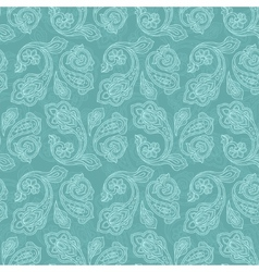 Turkish cucumber seamless pattern turquoise style vector image vector image