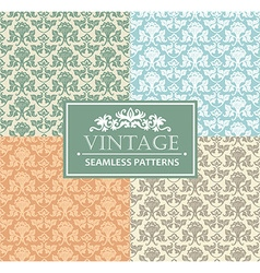 Vintage seamless background antique victorian vector image vector image