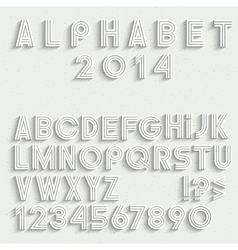 White font numbers and punctuation marks with vector image vector image