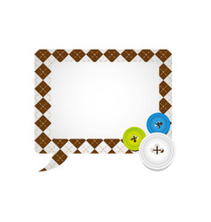 figures square chat bubbles icon vector image vector image