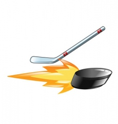 flaming puck vector image vector image