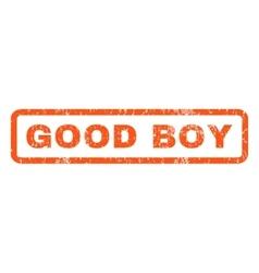 Good Boy Rubber Stamp vector image