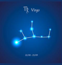 zodiac constellation virgo the maiden vector image