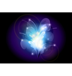abstract flower blue vector image vector image