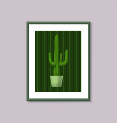art painting with cactus vector image vector image