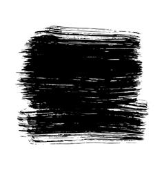 Black ink hand drawn paintbrush brush vector image