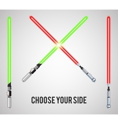 Light swords vector image vector image
