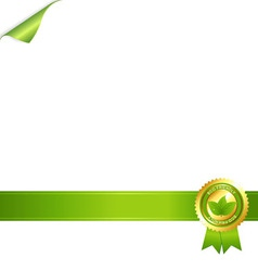 paper and eco award vector image vector image