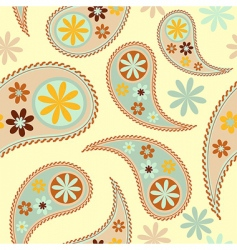 vector seamless paisley patter vector image vector image