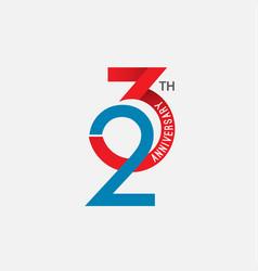 23 th anniversary template design vector