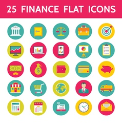 25 Finance Flat Icons in Format vector