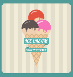 456retro ice-cream vector