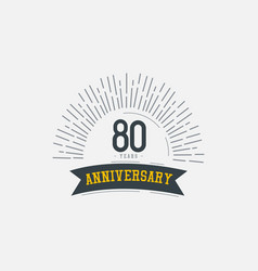 80 years anniversary celebrations template design vector