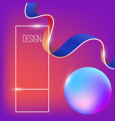 abstract background with dynamic shape vector image