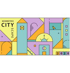 abstract city minimal vector image