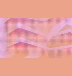 abstract warm orange and pink zig zag background vector image