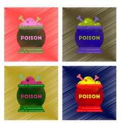 assembly flat shading style icon potion cauldron vector image