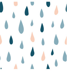 autumn seamless pattern with colorful rain drops vector image