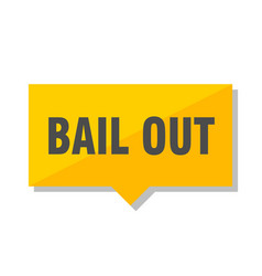 bail out price tag vector image