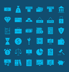 banking money solid web icons vector image