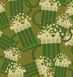 Beer military pattern Mug alcohol army texture vector image