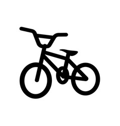 bicycle icon design template vector image