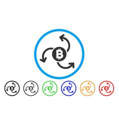 Bitcoin source swirl flat icon vector