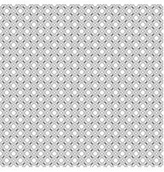 Black line interlocking squares and circles vector