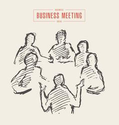 business meeting brainstorming team a work vector image