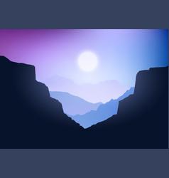Canyon landscape vector