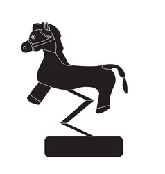 carousel horse silhouette vector image