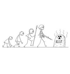 Cartoon of human evolution process progress vector