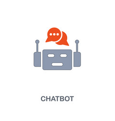 chatbot icon premium two colors style design from vector image