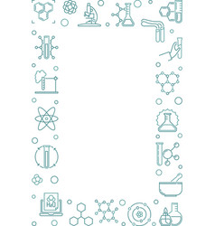 chemistry vertical background with chemical vector image