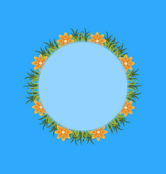collection of flower spring frame vector image