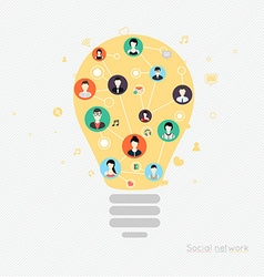 Concept for social network Concepts for web vector image