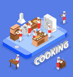 cooking isometric composition vector image