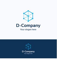 D company logo vector