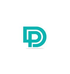 d p initial company logo vector image