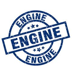 Engine blue round grunge stamp vector
