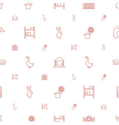 Farm icons pattern seamless white background vector