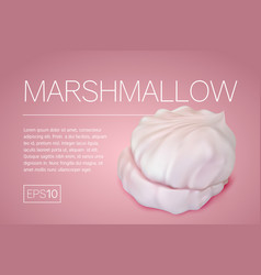 flyer with a realistic image of marshmallows vector image