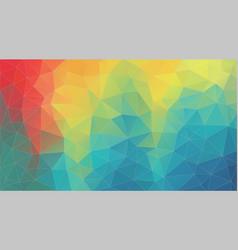 fresh color geometric triangle wallpaper vector image