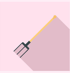 Garden fork icon flat style vector